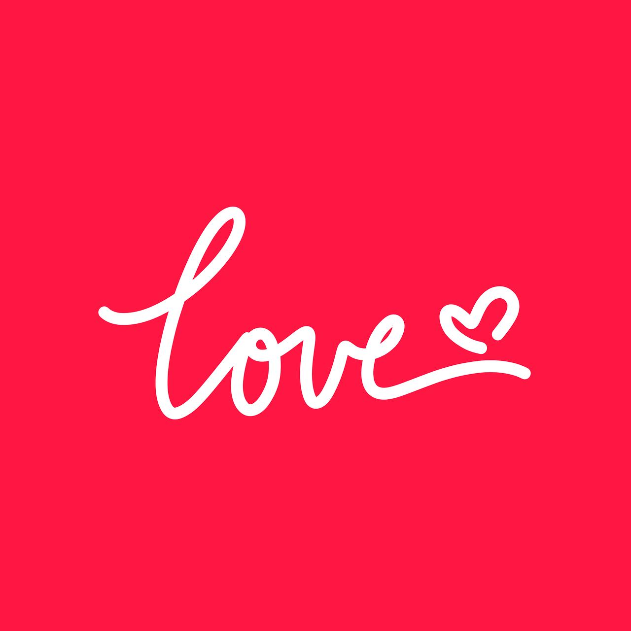 Plakat med kærligt budskab