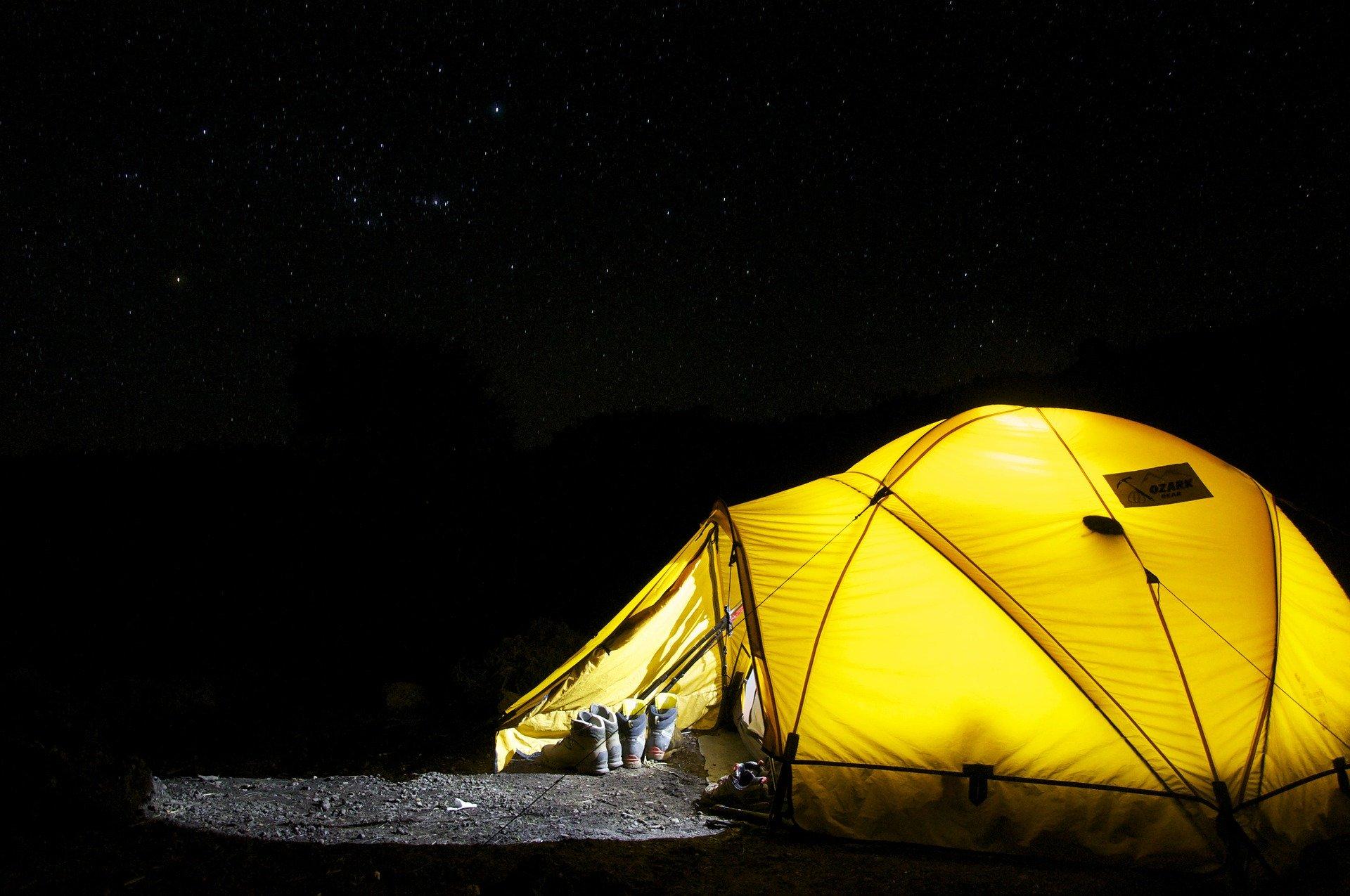 camping i mørket